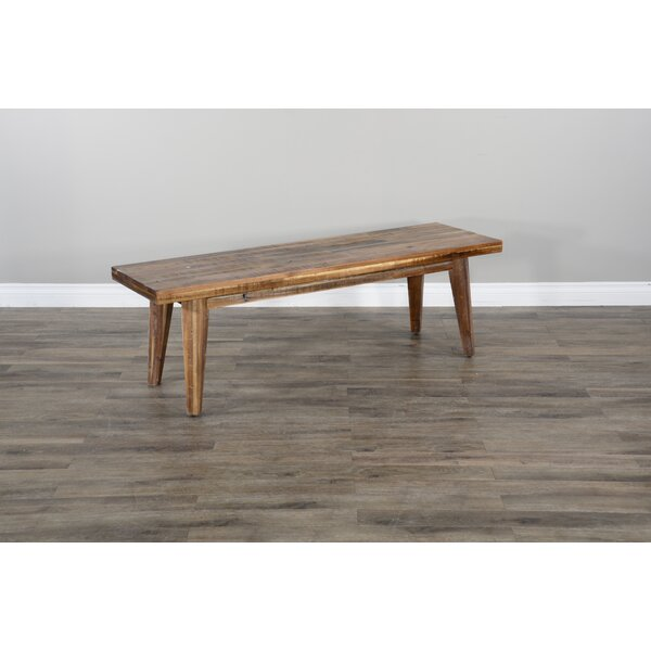 Hegarty Wood Bench by Gracie Oaks