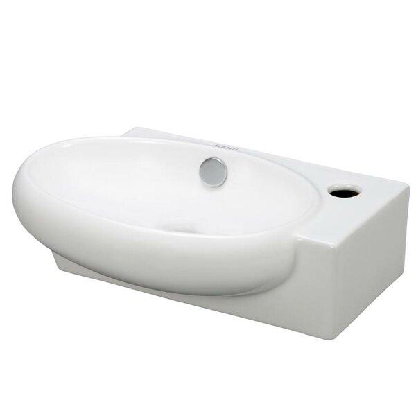 Ceramic 15 Wall Mount Bathroom Sink with Overflow by Elanti