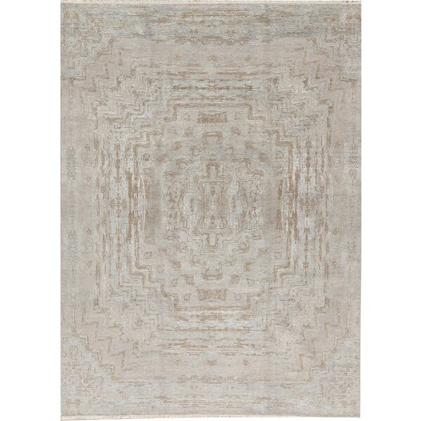 Cosmopalitan Oriental Hand-Knotted Wool Gray Area Rug