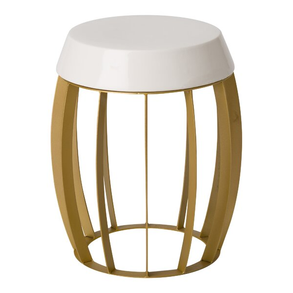 Giffard Metal Accent Stool by Ivy Bronx