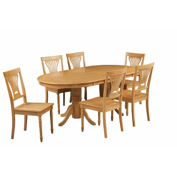 Devitt 7 Piece Extendable Dining Set by August Grove