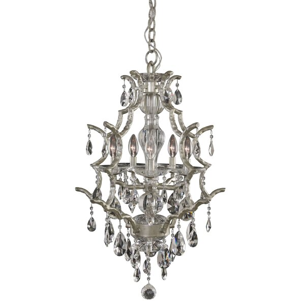 Bellair 5 - Light Unique / Statement Tiered Chandelier with Crystal Accents by Rosdorf Park Rosdorf Park
