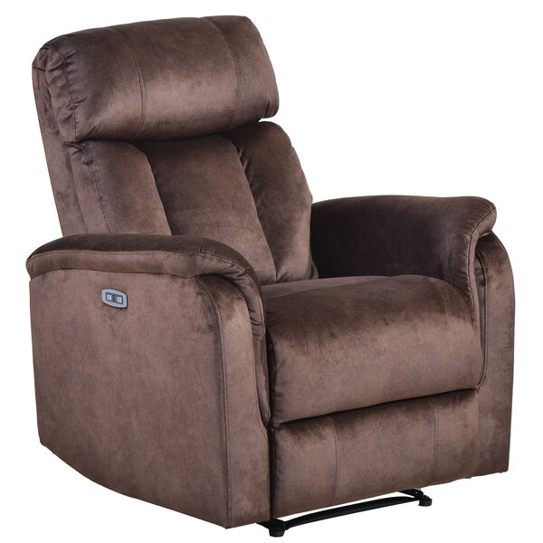 Socotrine Faux Leather Power Recliner W003326671