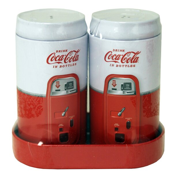 Coke 3-Piece Galvanized Salt and Pepper Set by Tin Box Company