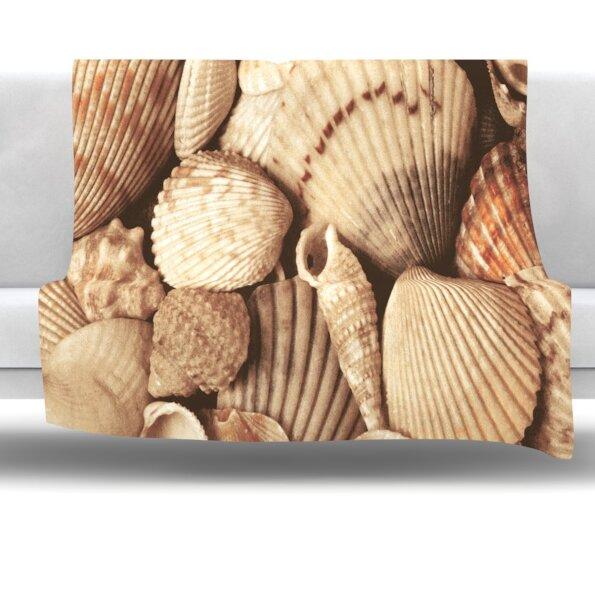 Shells Fleece Throw Blanket by East Urban Home