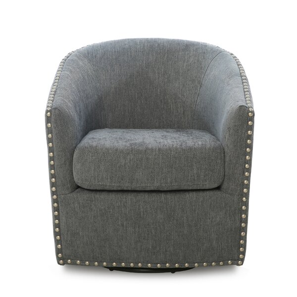 Brynn Swivel Barrel Chair by Darby Home Co Darby Home Co