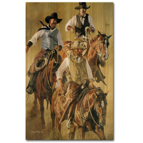 That Western Spirit Painting Print Plaque by WGI-GALLERY