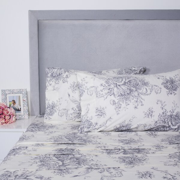 Toile Printed Cotton Sheet Set by Melange Home