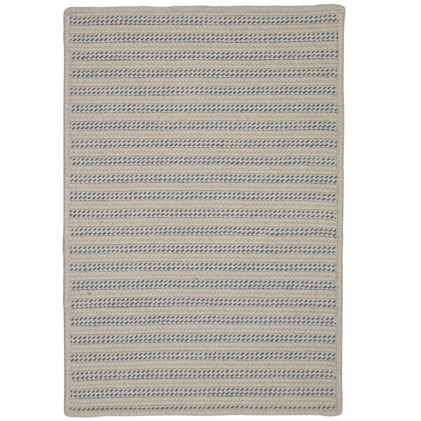 Tidewater Striped Hand-Woven Natural Indoor/Outdoor Area Rug by Rosecliff Heights