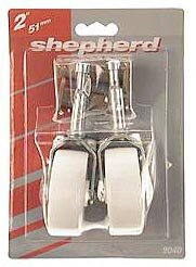 Medium Duty Swivel Stem Caster (Set of 2) by Shepherd