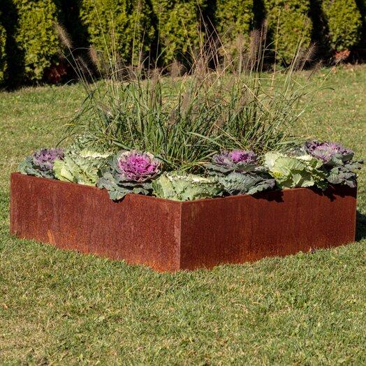 Metallic Series 4 ft x 4 ft Corten Steel Raised Garden by Veradek
