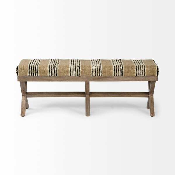 Sancho Upholstered Bench by World Menagerie