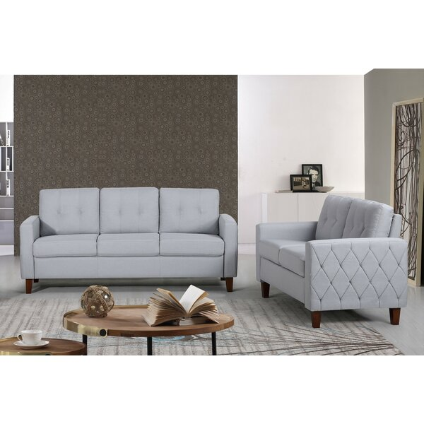 Dawn Tufted Mid-Century 2 Piece Living Room Set by Ebern Designs