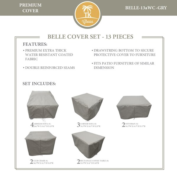 Bee 13 Piece Water Resistant Patio Furniture Cover Set by TK Classics