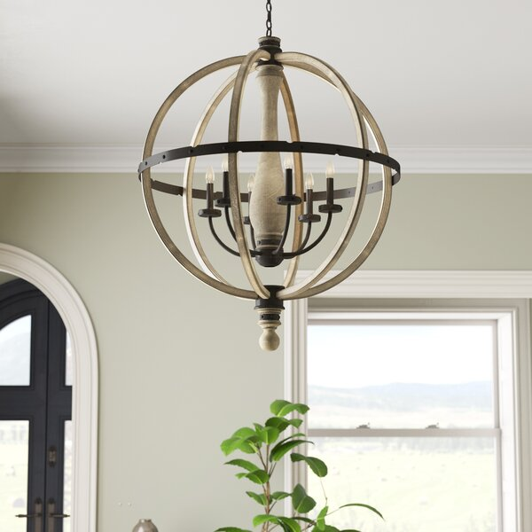 Elisabeth 6-Light Candle Style Globe Chandelier by Laurel Foundry Modern Farmhouse Laurel Foundry Modern Farmhouse