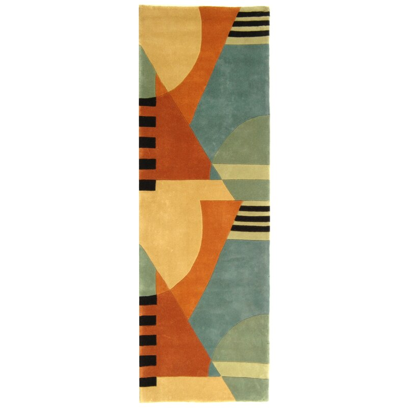 Rodeo Drive Hand Tufted Orange Gray Area Rug Amp Reviews
