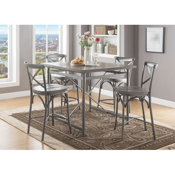 Westfall Counter Height 5 Piece Pub Table Set by Gracie Oaks