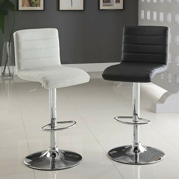 Tinley Adjustable Height Swivel Bar Stool by Orren Ellis