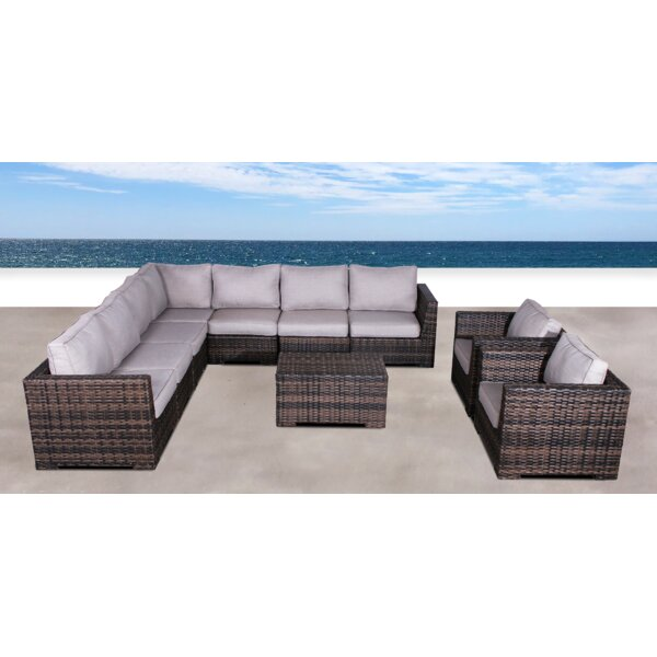 Pierson Resort Double Club 10 Piece Sectional Set With Cushions By Brayden Studio