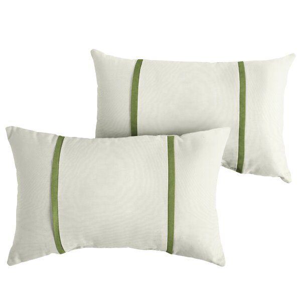 Flemingdon Indoor/Outdoor Sunbrella Lumbar Pillow (Set of 2) by Charlton Home