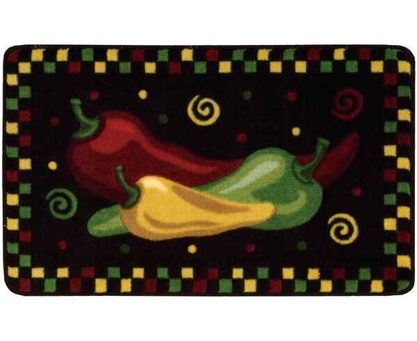 Shirly Black/Yellow Novelty Rug by Winston Porter