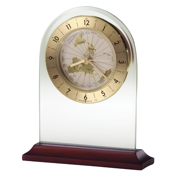 World Time Arch  Quartz Table Clock by Howard Miller®