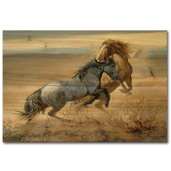 Challenged by Persis Clayton Weirs Painting Print Plaque by WGI-GALLERY