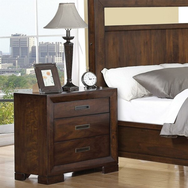 Diana Keesler 3 Drawer Nightstand by Three Posts