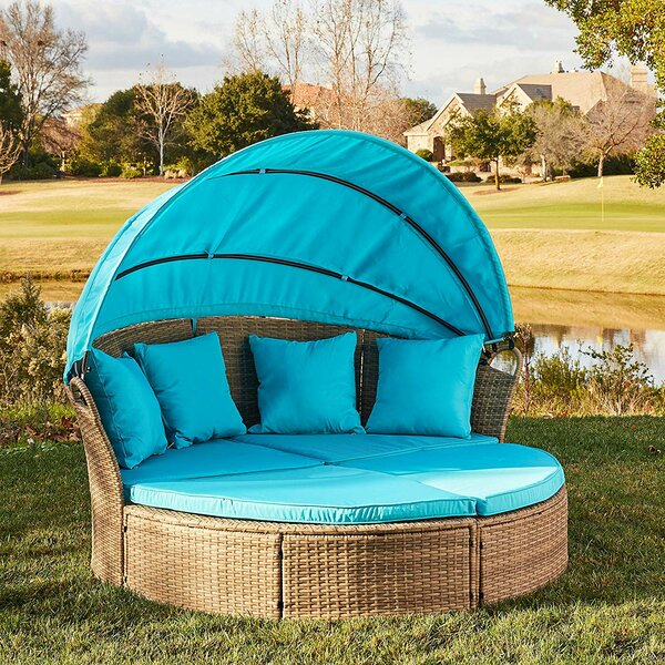 Gallo Round Patio Daybed with Cushions by Bay Isle Home Bay Isle Home