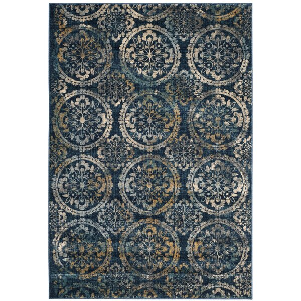 Florentin Navy Area Rug by World Menagerie