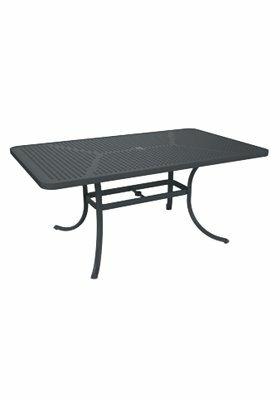Boulevard Aluminum Dining Table by Tropitone