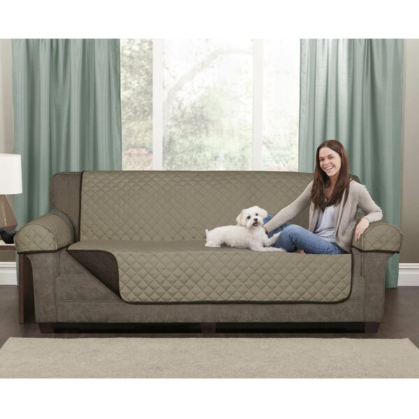 Reversible Microfiber 3 Piece Box Cushion Loveseat Slipcover Set by Maytex