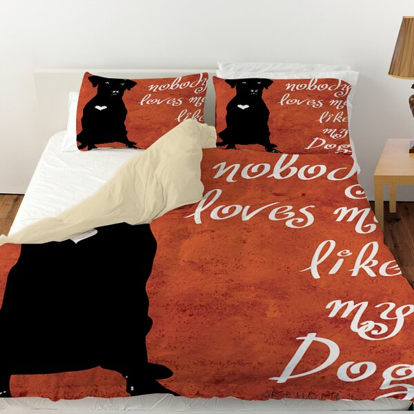 Nobody Loves Me Like My Dog Duvet Cover by Manual Woodworkers & Weavers