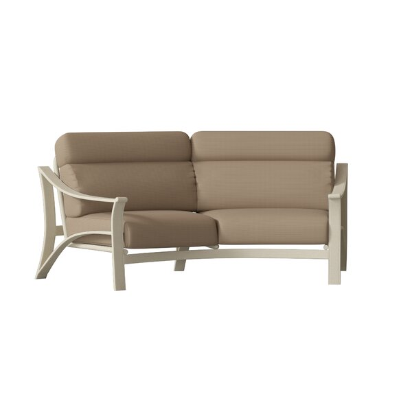 Corsica Crescent Loveseat with Cushions by Tropitone