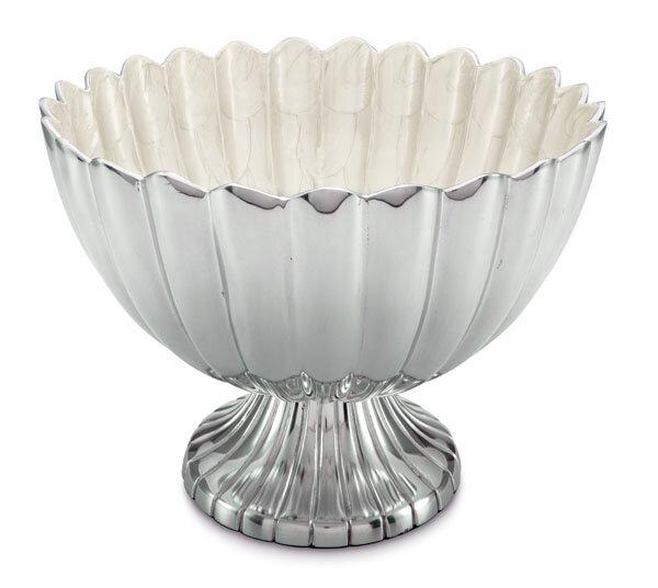 Peony 14.5 Pedestal Gala Serving Bowl by Julia Knight Inc