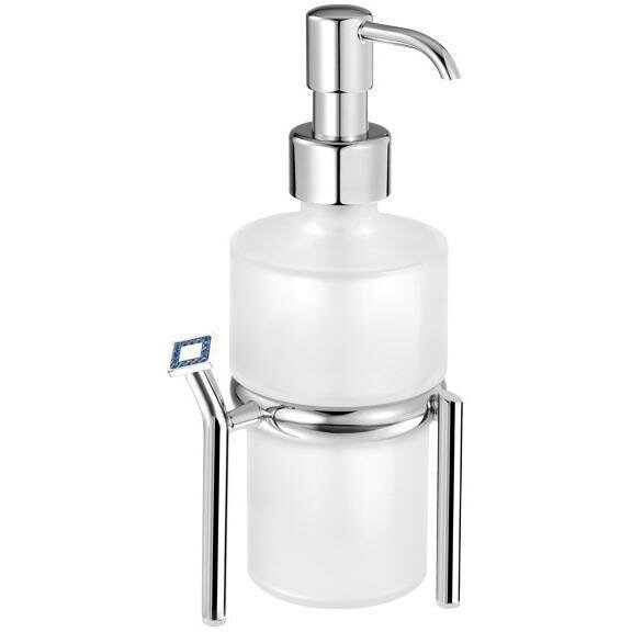 Milbourn Swarovski Frosted Glass Soap & Lotion Dispenser by House of Hampton