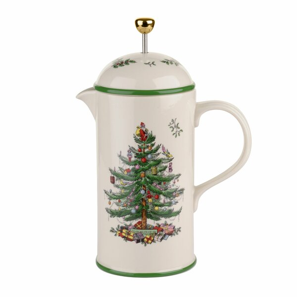 Christmas Tree 7.5-Cup Cafetiere French Press Coffee Maker by Spode