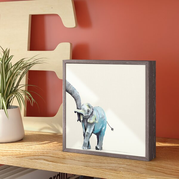 Guadalupe Neutral You And Me Elephant by Cathy Walters Mini Framed Canvas Art by Viv + Rae