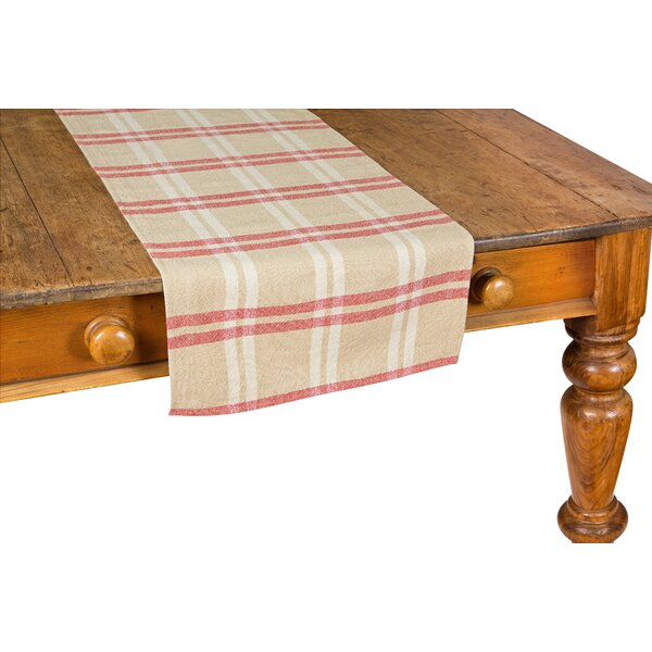 Check Linen Table Runner by Xia Home Fashions