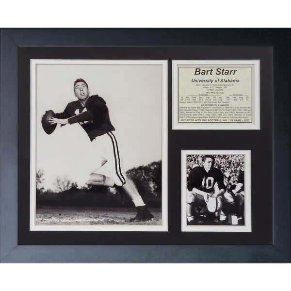 Bart Starr - Alabama Framed Memorabilia by Legends Never Die