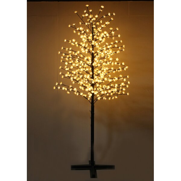 Outdoor Cherry Blossom Tree with Flowers and 488 LED Lights by Hi-Line Gift Ltd.