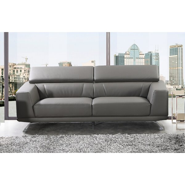 Find A Wide Selection Of Rhea Eco-Leather Sofa by Wade Logan by Wade Logan