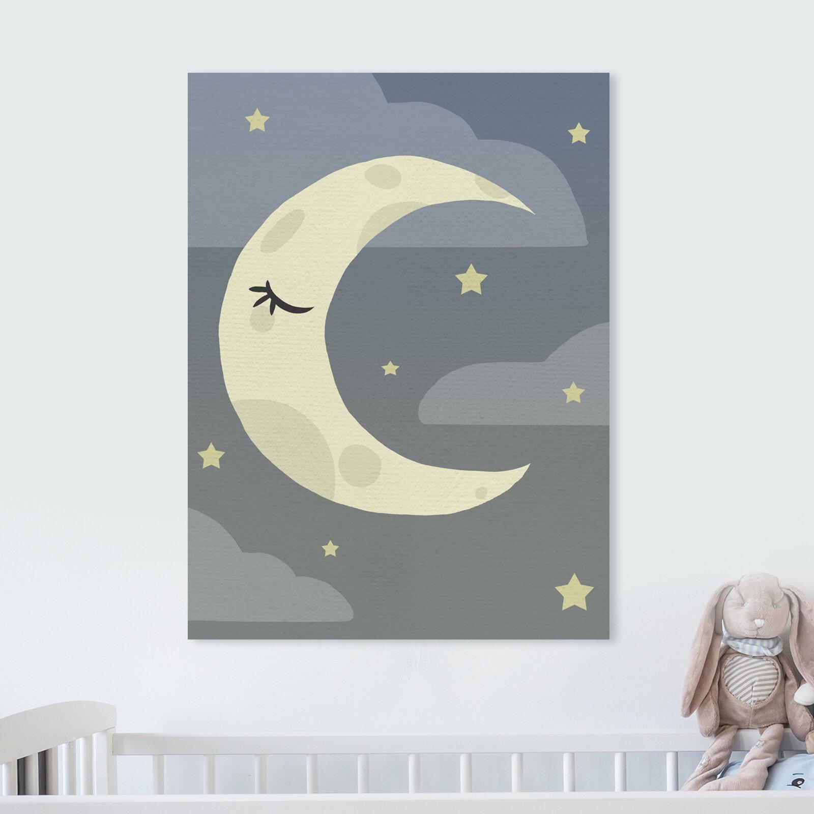 Harriet Bee Sinkler Sleepy Time Moon Canvas Art Wayfair