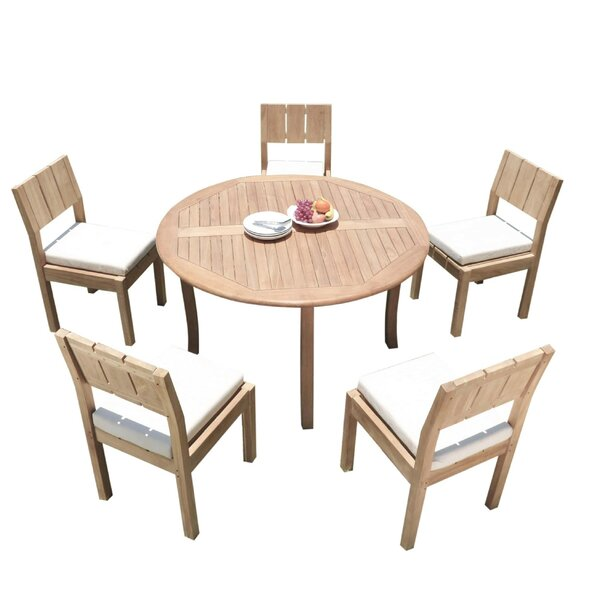 Galilee 6 Piece Teak Dining Set by Rosecliff Heights