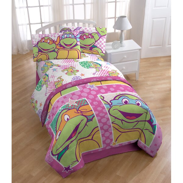 Nickelodeon Teenage Mutant Ninja Turtles Shell Tastic Full Polyester 4 Piece Sheet Set by Shopkins