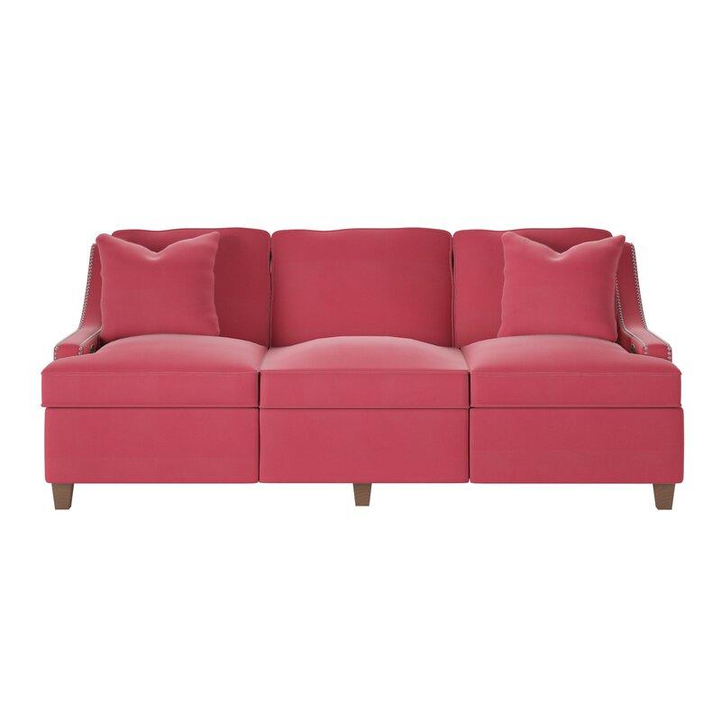 Wayfair Custom Upholstery™ Tricia Power Hybrid Reclining Sofa ...