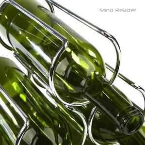 Steel Framed Pyramid Shaped Wine Bottle Rack by Rebrilliant