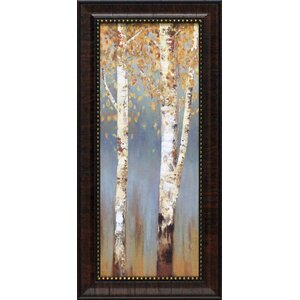 Butterscotch Birch Trees II by Pearce, Allison Framed Painting Print by Artistic Reflections