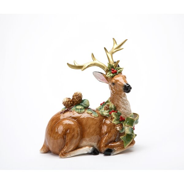 Reindeer Pine Cone Figurine by The Holiday Aisle