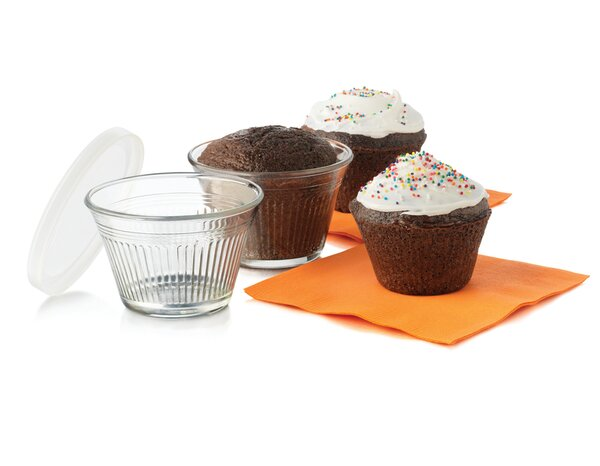 Just Baking Round Cupcake Baking Dish Set with Lids (Set of 12) by Libbey
